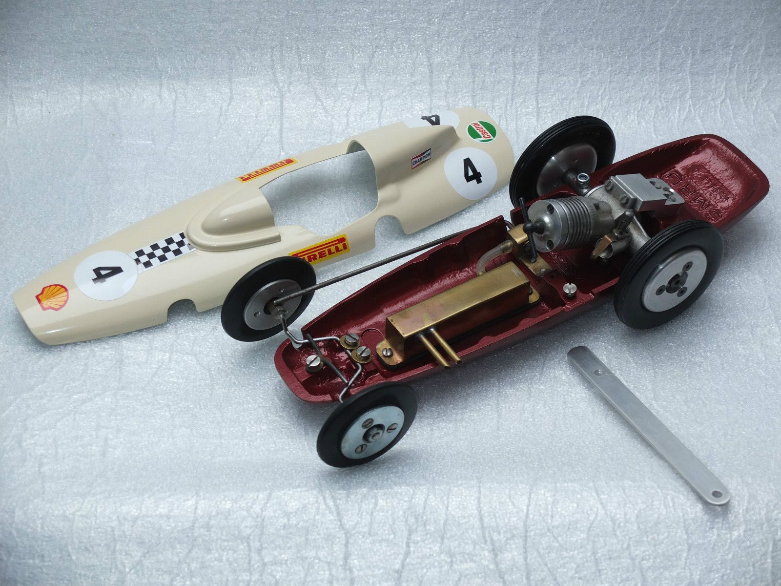 RARE VINTAGE TETHER RACE CAR THAT HAS NEVER BEEN RACED