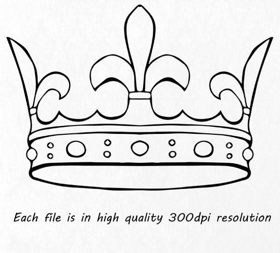 Doodle Crown Clipart Hand Drawn Crown Clip Art Crown Silhouette