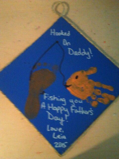 Fotprint Fishing Pole Nd Handprint Fish Fishing You A Happy