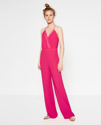 combinaison pantalon large combinaisons femme zara france pyjamas pinterest combinaison. Black Bedroom Furniture Sets. Home Design Ideas