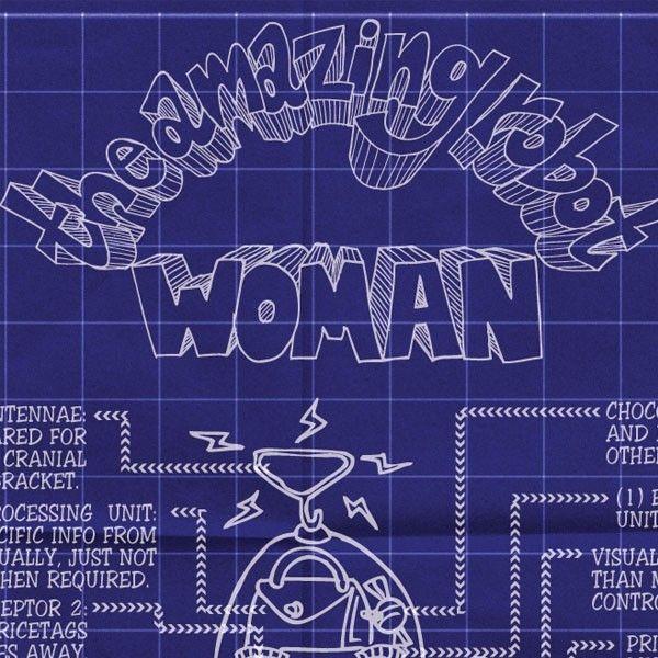 The amazing robot woman original blueprint design by buster mcgee the amazing robot woman original blueprint design by buster mcgee 1000 via etsy malvernweather Gallery