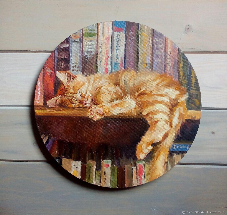 Живопись: картина маслом котенок, картина в детскую, для детей