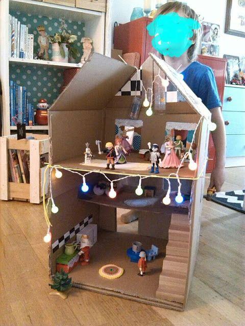 der bastelblog karton puppenhaus selber basteln diy bastelblog pinterest bastelblog. Black Bedroom Furniture Sets. Home Design Ideas