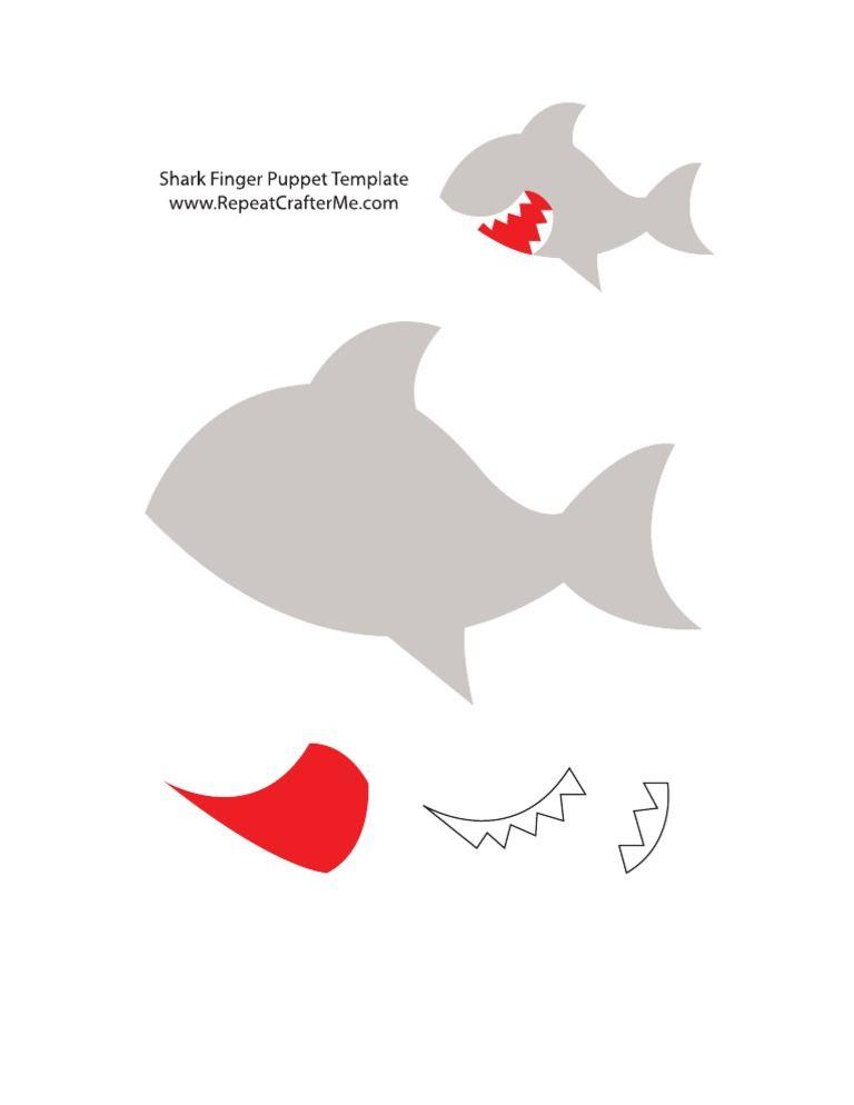 I\'m reading Shark Finger Puppet Template on Scribd | DIY | Pinterest ...