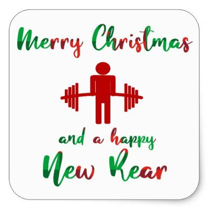 Funny Fitness Fitmas Christmas Trainer Sticker Zazzle Com In 2020 Workout Quotes Funny Funny Gym Quotes Christmas Eve Quotes
