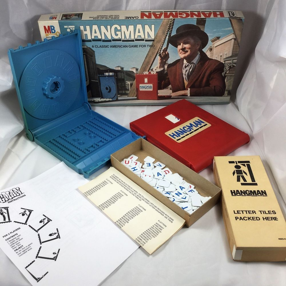 Hangman Word Game 1976 Milton Bradley Vincent Price on