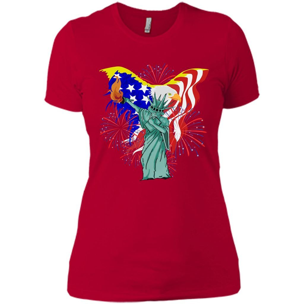 60ccacfbe36e9 Funny Statue Of Liberty Dabbing 4th Of July 2017 T-Shirt