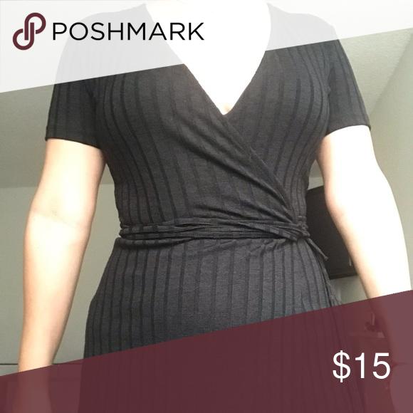 37a3adbe3684 Black Zara Wrap Dress Material is super sturdy. Worn a couple of times. I