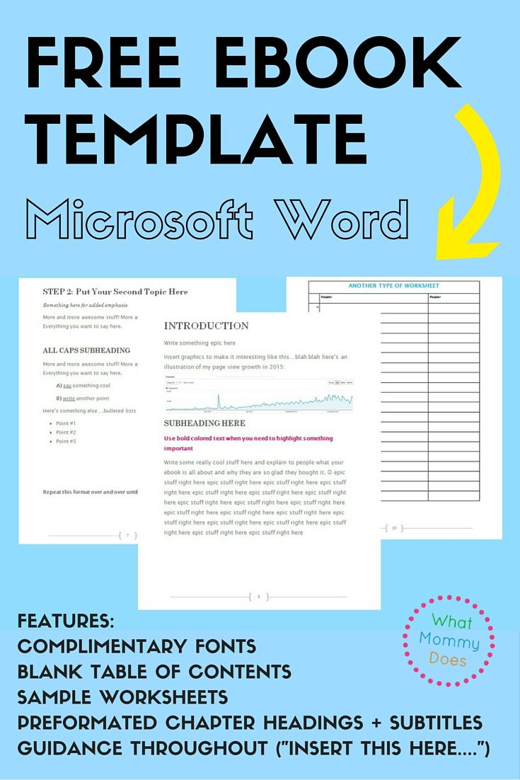 Microsoft Word Ebook Template Choice Image - Template Design Ideas