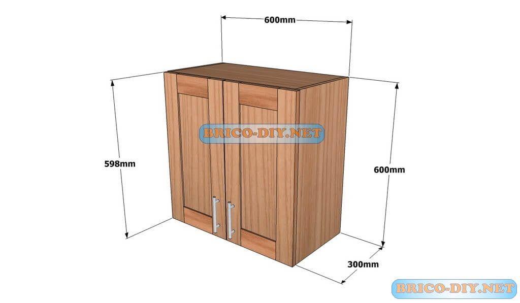 Mueble de cocina plano alacena de madera cedro 60 cm de largo ...