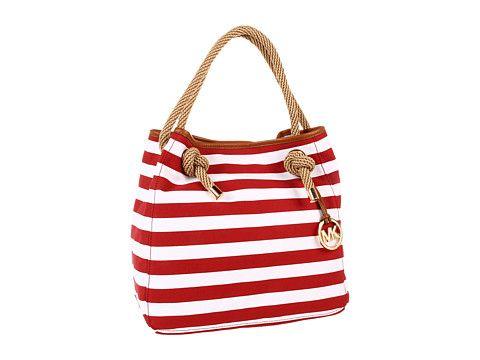 5a4bbcad0744 MICHAEL Michael Kors Marina Large Grab Bag | Reddy | Bags, Striped ...