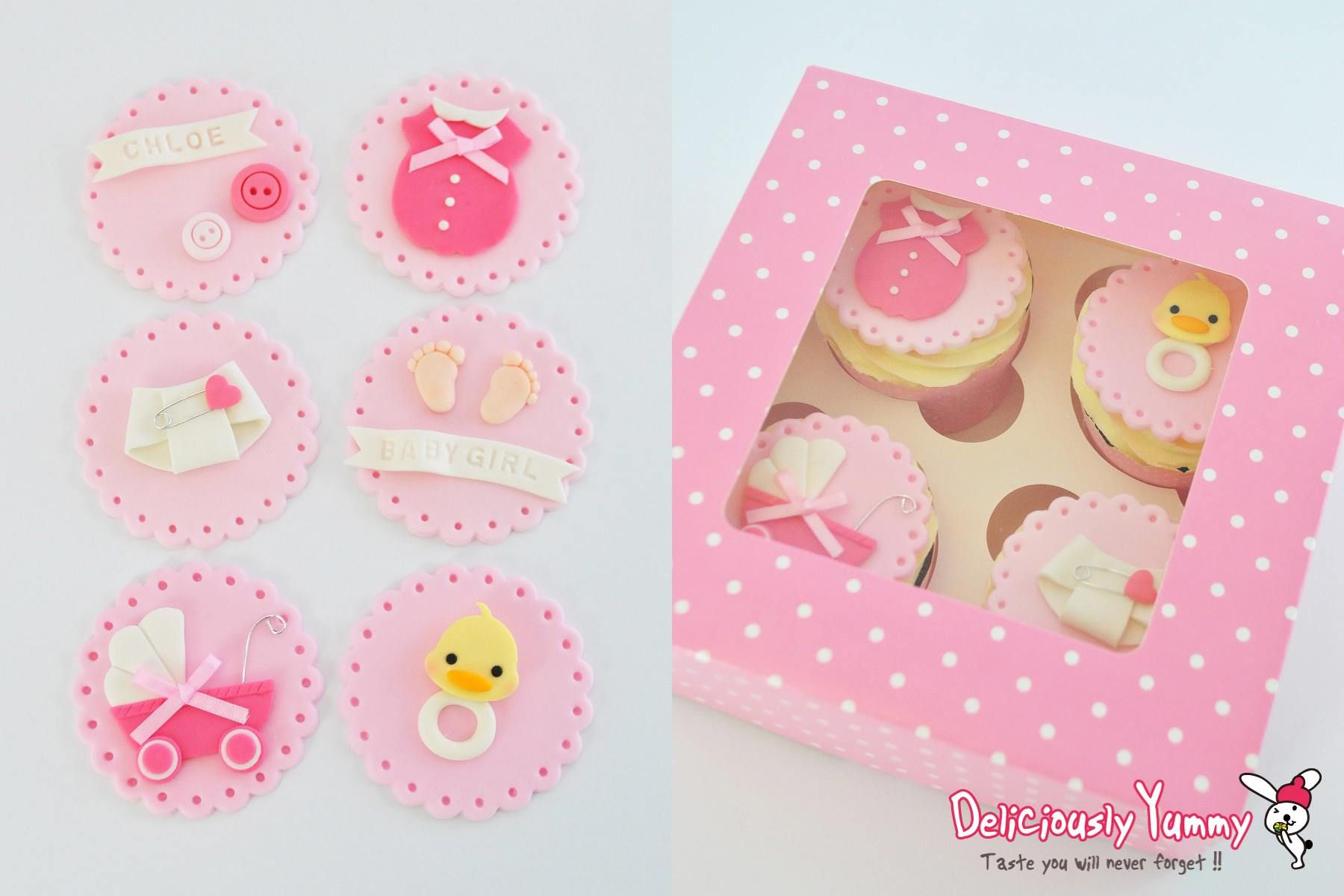 Baby Shower Cupcakes from Deliciously Yummy