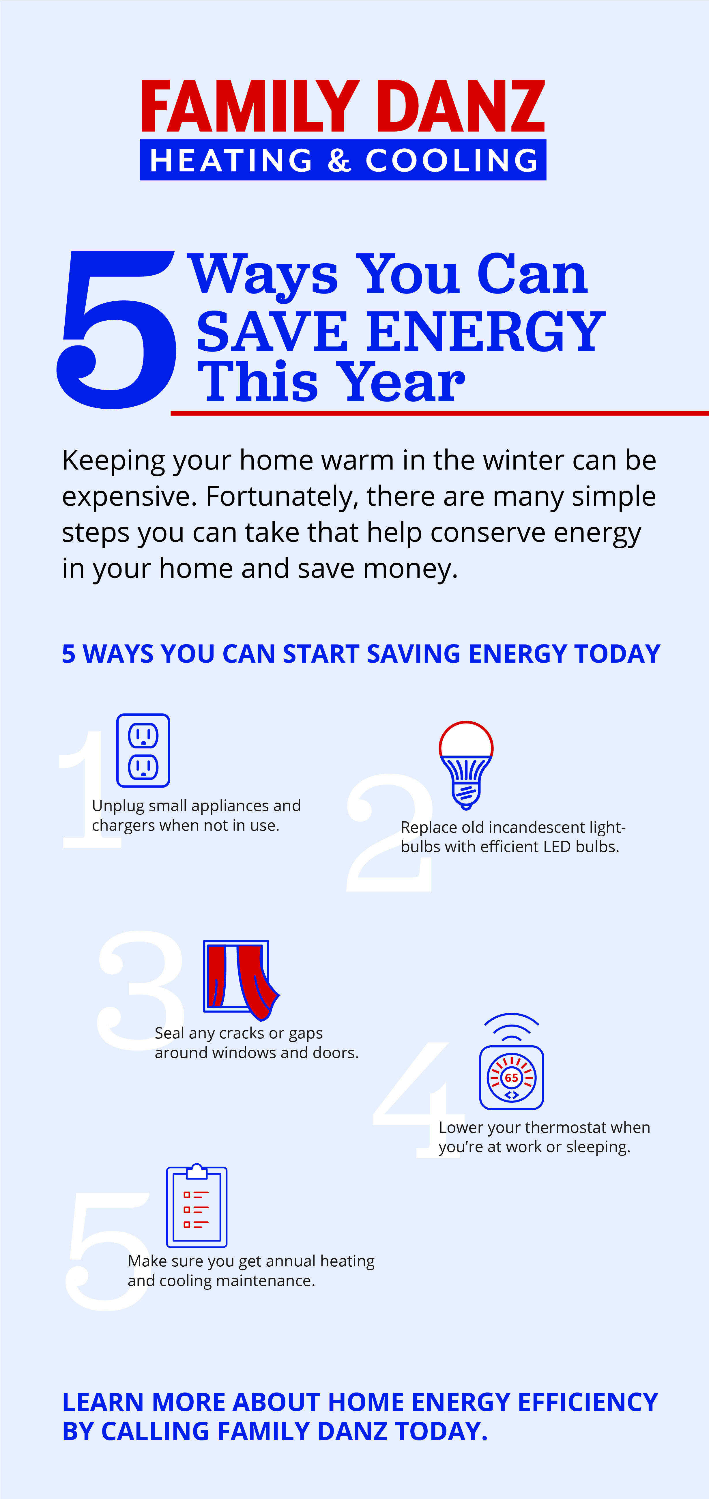 Five Ways You Can Save Energy This Year In