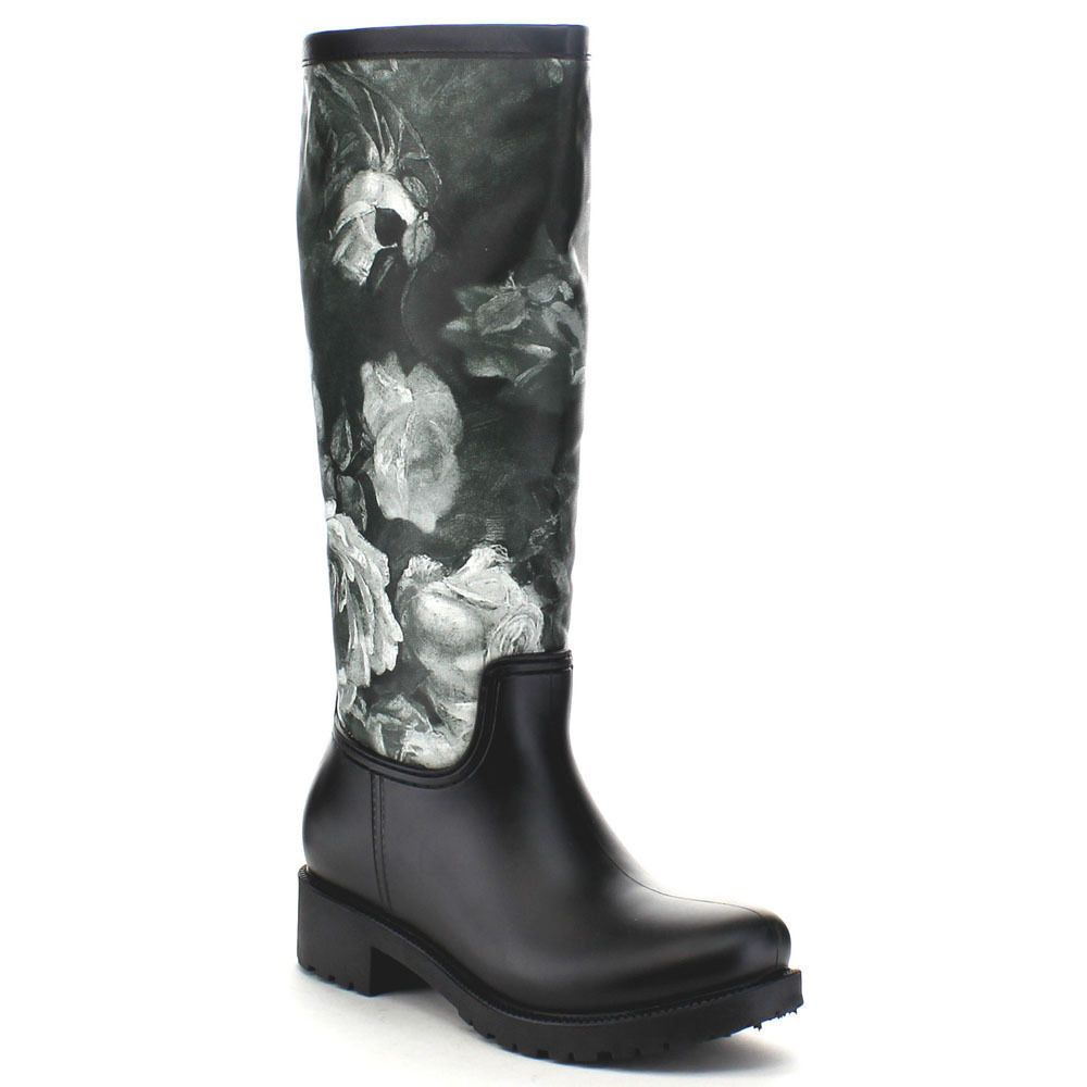 4479ab2aff2 Bella Marie Rainey-10 Women's Print Waterproof Rain Boots (-5.5 ...
