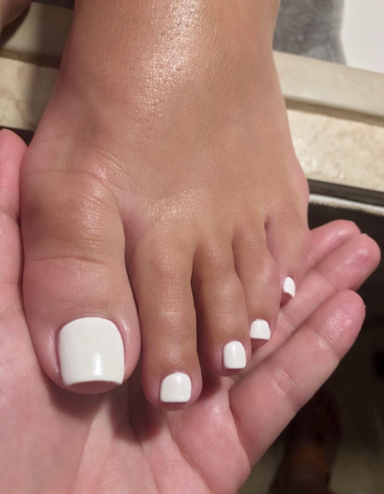 Insatiablenails Nails Acrylic Toe Nails Acrylic Toes Toe Nails White