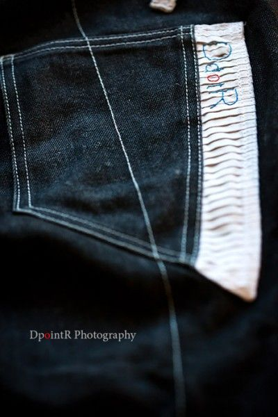 Day 94… The back pocket of the DdotR Invisible Dark Line Denims….