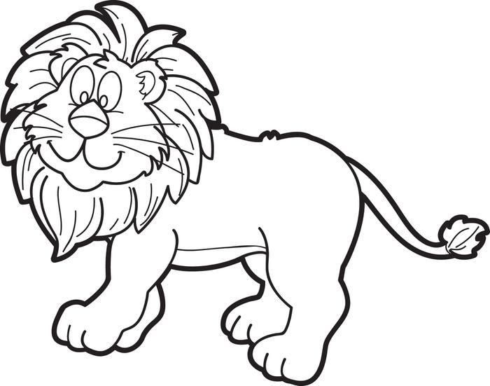 Cartoon Male Lion Coloring Page Lion Coloring Pages Cartoon