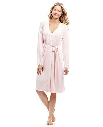 a1e22aace43 Jessica Simpson Maternity Lace-Trim Nursing Robe - Maternity - Women -  Macy's