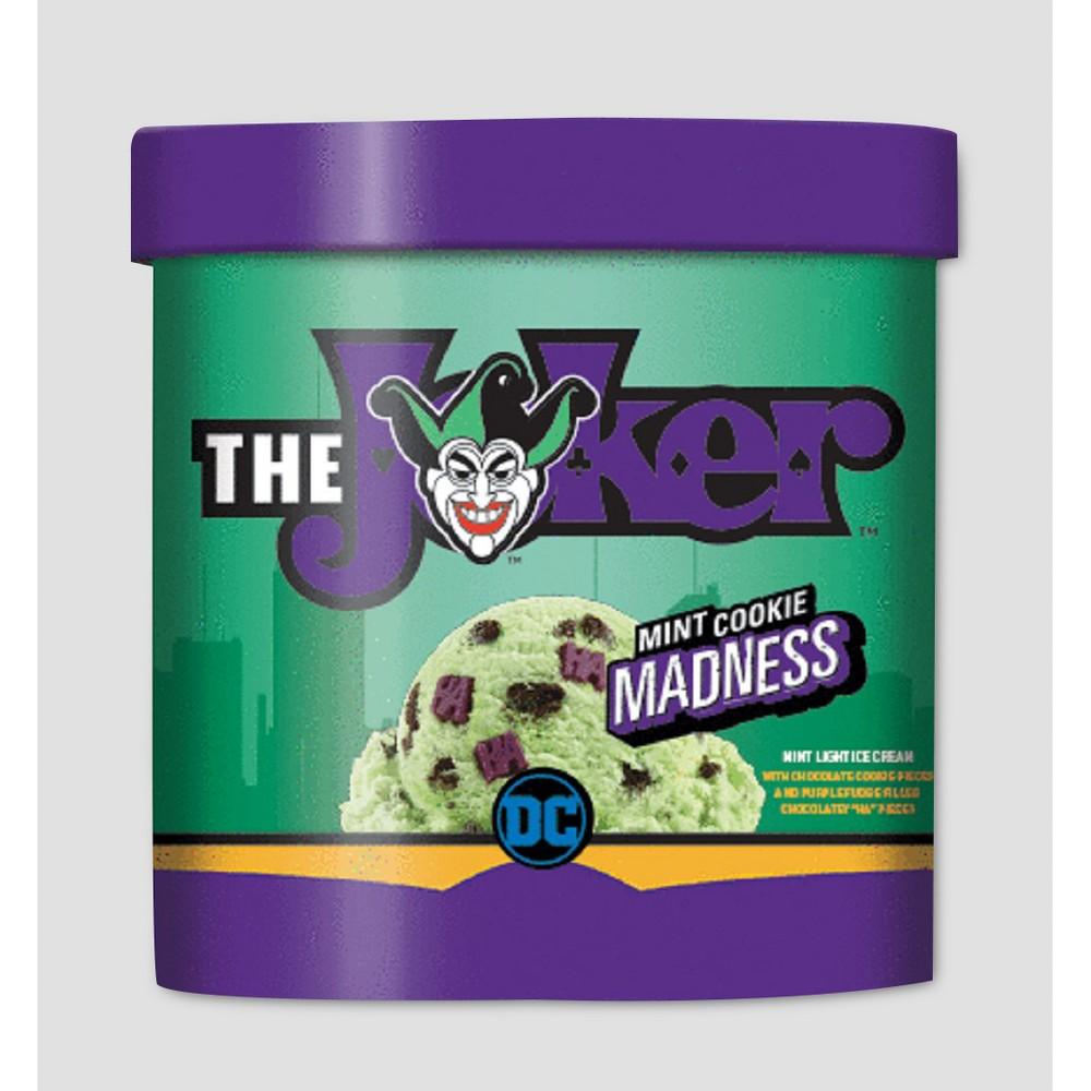 DC Comics The Joker Mint Cookie Madness Ice Cream - 48oz  Mint