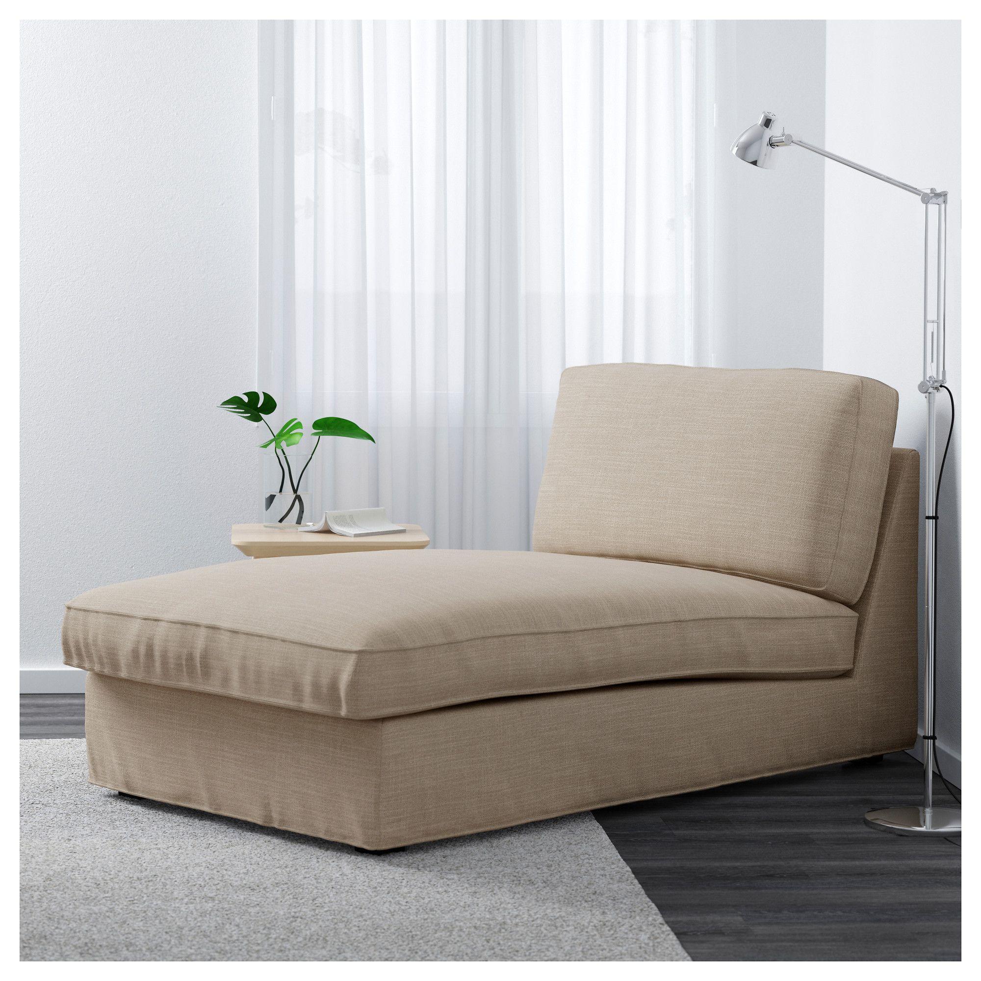 kivik chaise  hillared beige  beige living rooms beige
