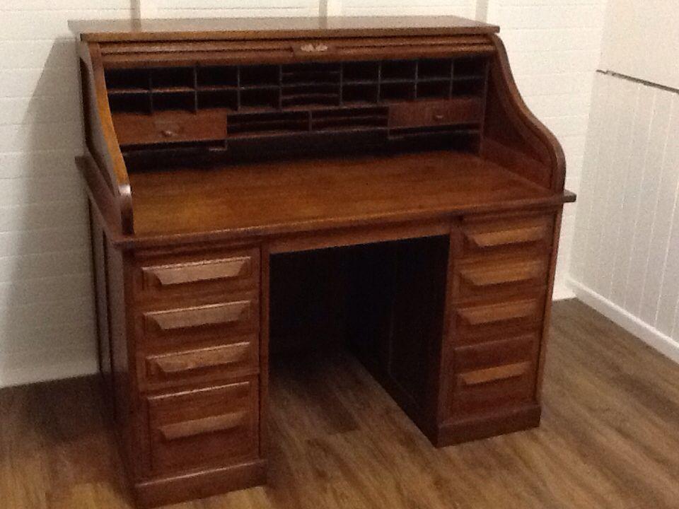 Antique Cutler Desk 1914 Roll Top Desk Desk Antiques