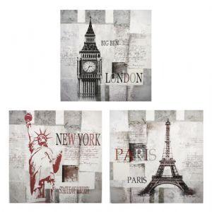 Printed canvas new york london tokyo paris-table wall decoration-ny-14