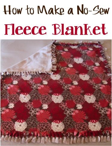 d99a0a4224 How To Make a Cozy No-Sew Fleece Blanket!  easy step-by-step tutorial  ~ at  TheFrugalGirls.com - these blankets make such great Homemade Gifts