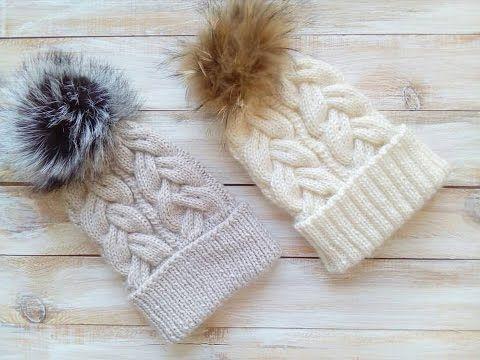 вяжем детскую шапку градиентом Alexis часть 1 шапка с косами 16