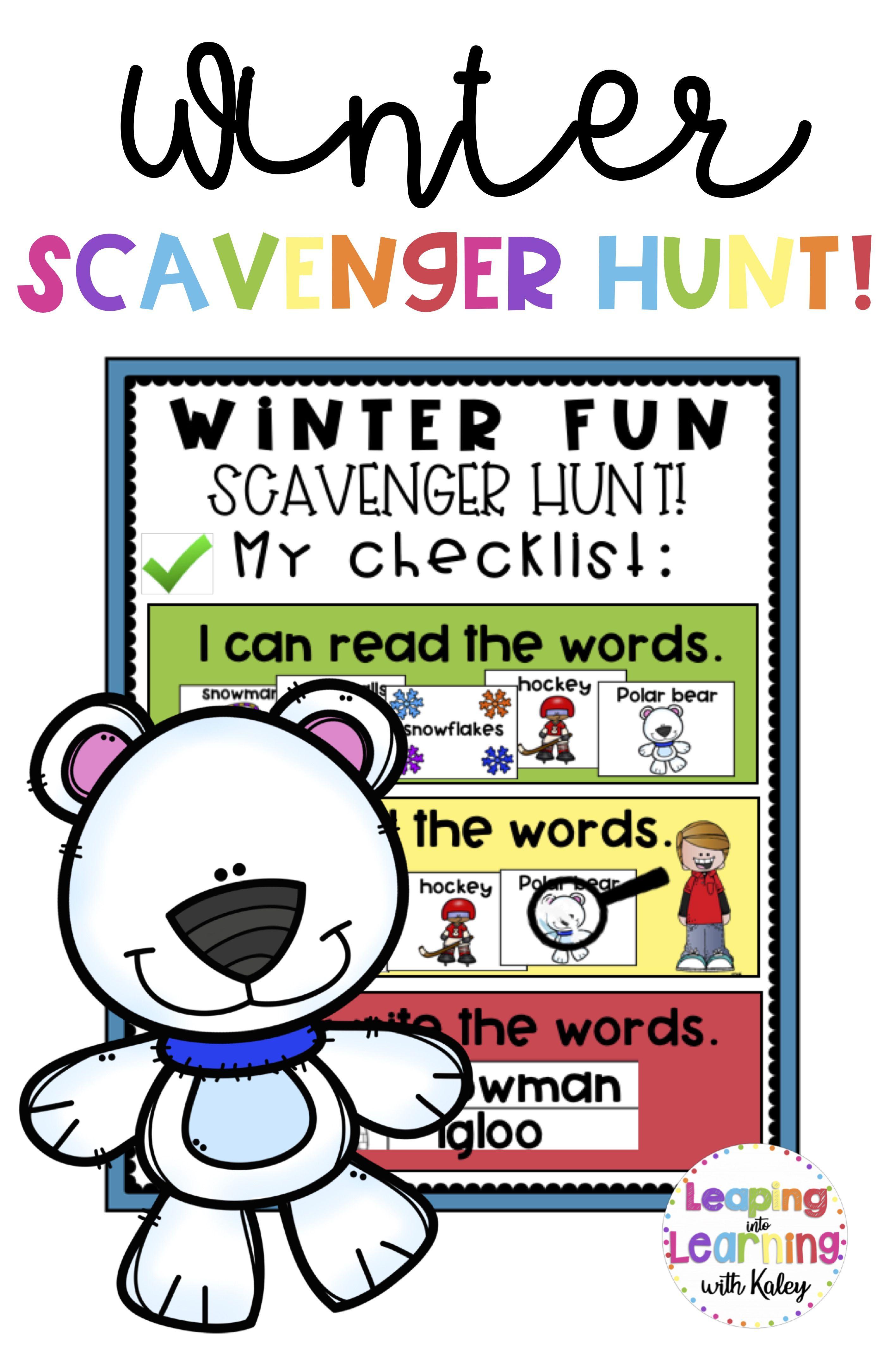 No Prep Winter Theme Phonemic Awareness Activities
