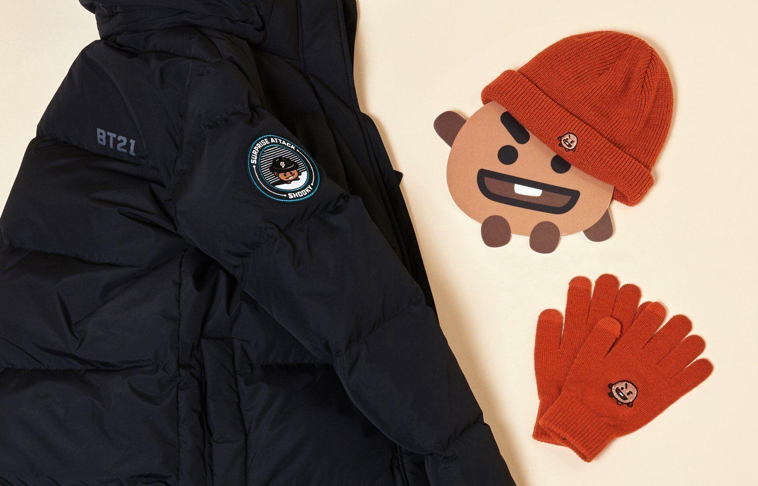 cd123127e Bt21 shooky long bench coat(padded jacket) in 2019   BT21 Shooky ...