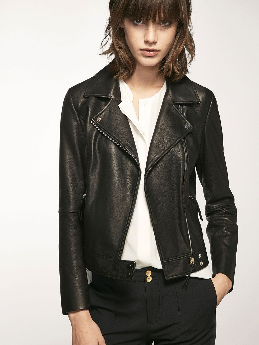 4d8f84bee4214 Leather jackets - Coats   Jackets - WOMEN - Massimo Dutti