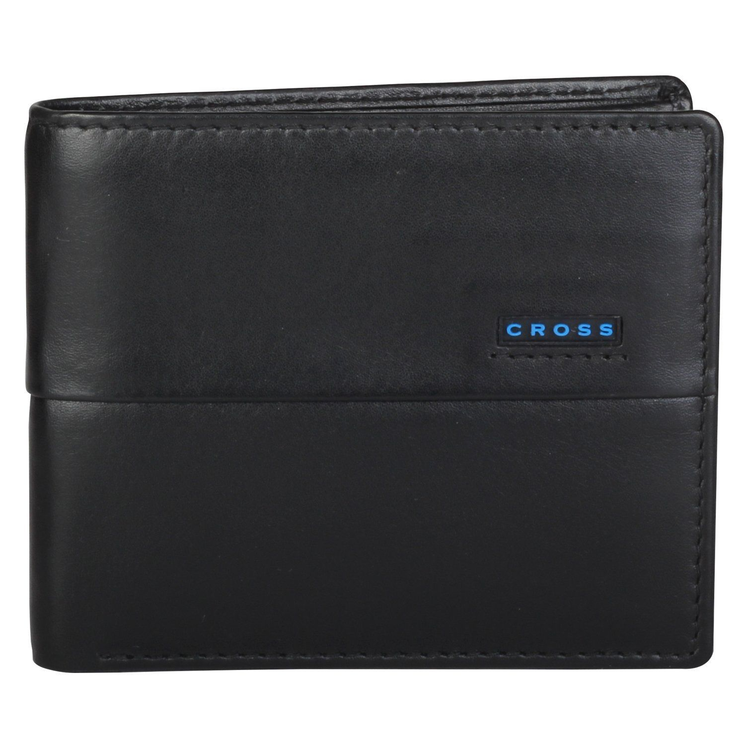 Cross mens leather bifold coin wallet with credit card