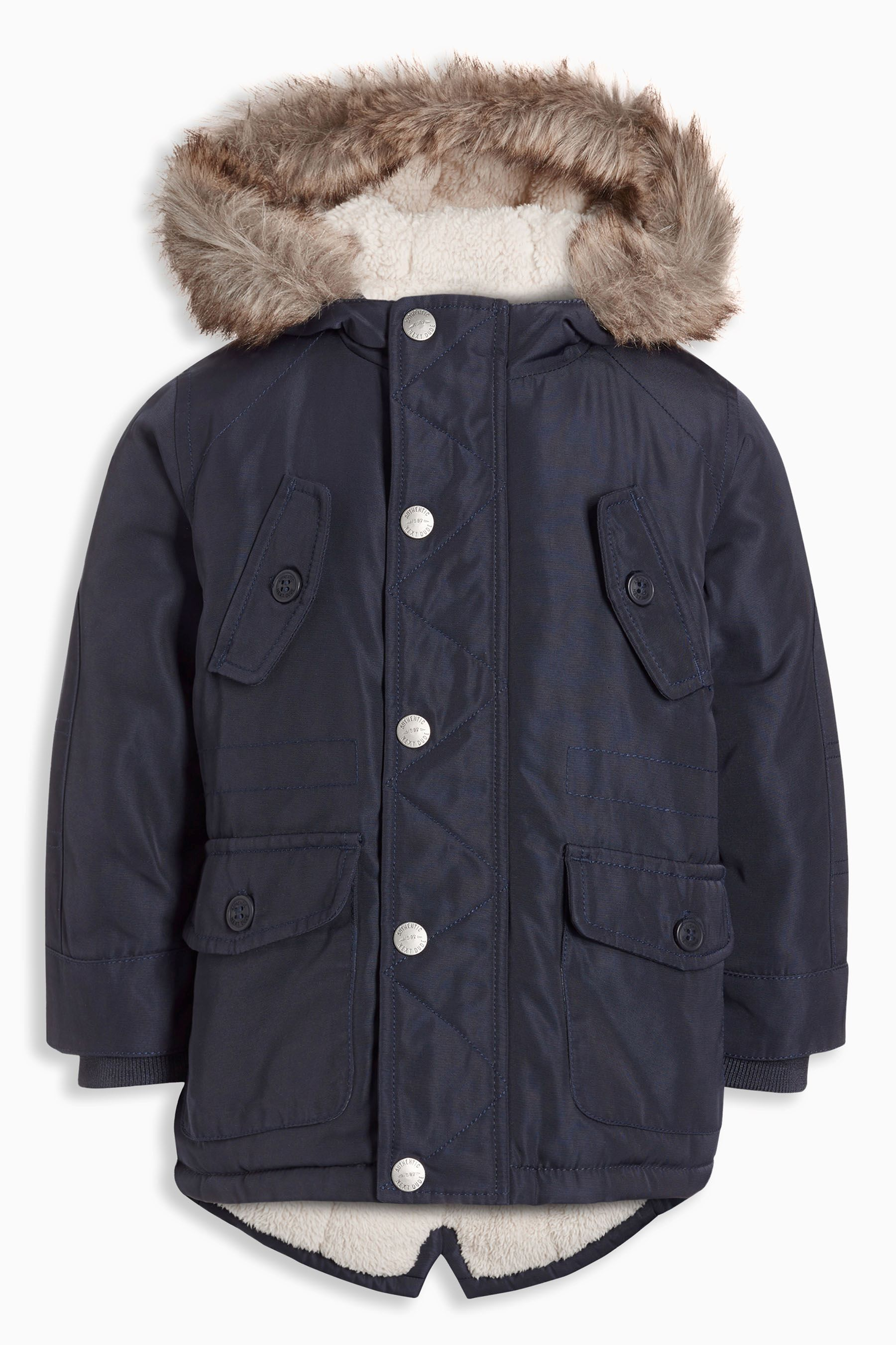 c86e80200e51 Buy Navy Parka Jacket (3mths-6yrs) from the Next UK online shop ...