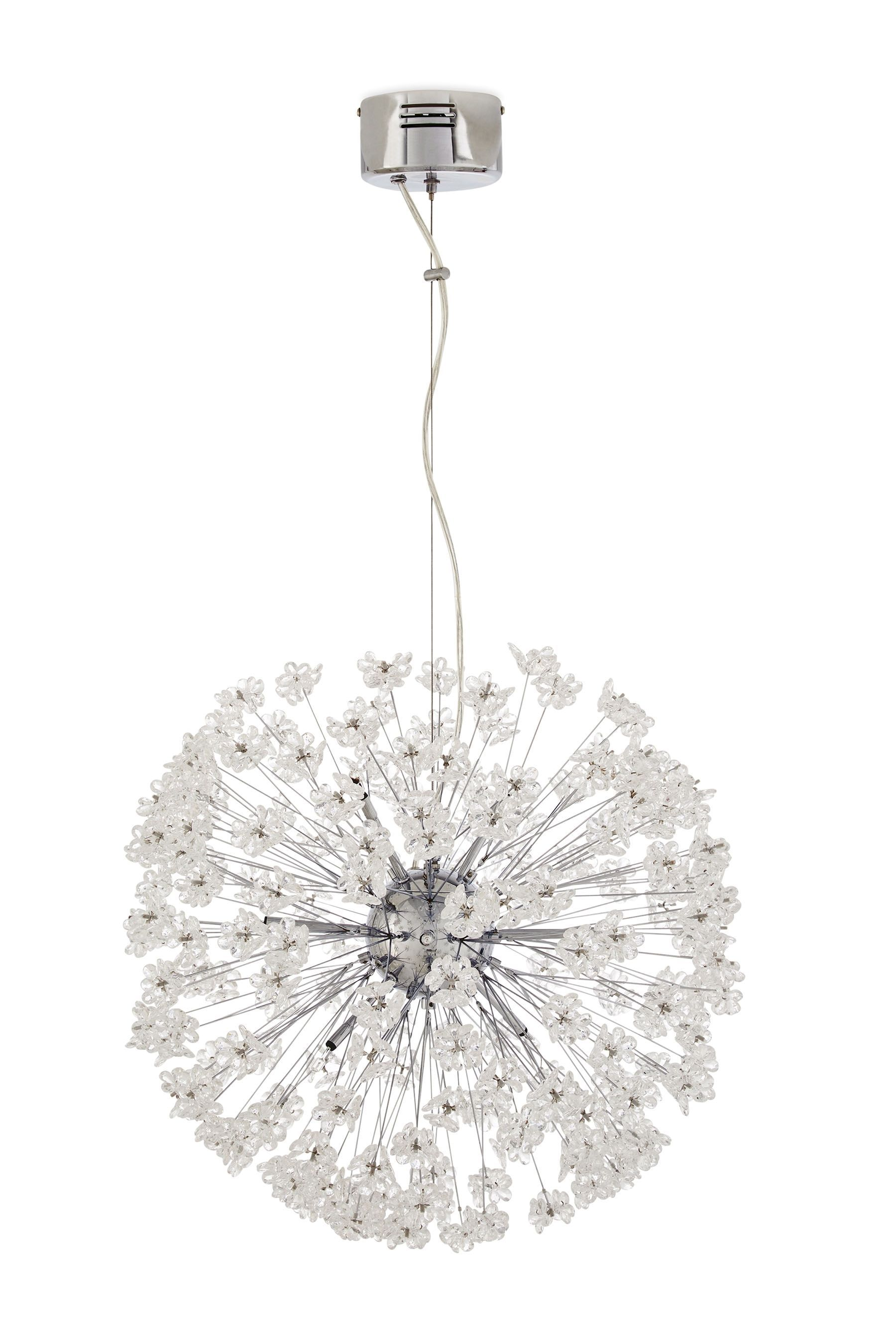 Buy floral spray 8 light chrome pendant from the next uk online shop gorgeous chandeliers pendants and flush lighting for an elegant and a soothing home setting next day delivery and free returns available arubaitofo Choice Image
