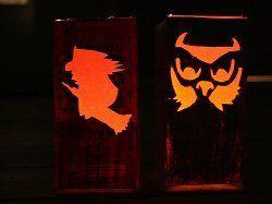 Milk Box Halloween Lanterns