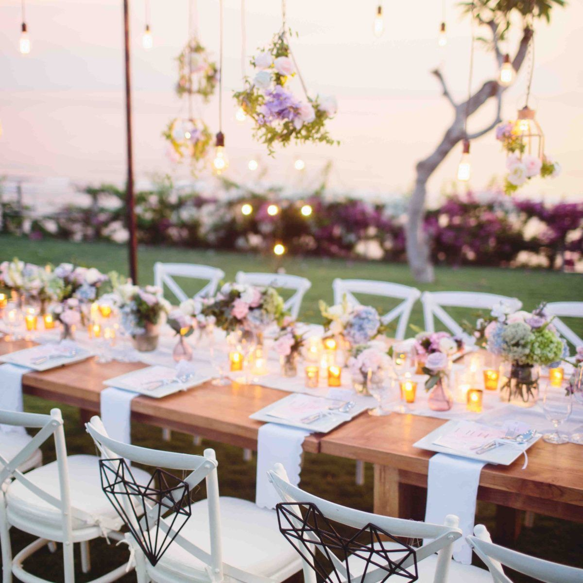 Hanging lights bare tabletops tropical luxe boho wedding ideas hanging lights bare tabletops tropical luxe boho wedding ideas bali event hire junglespirit Images
