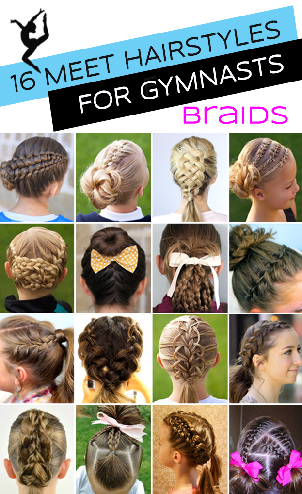 Gymnastics Hairstyles For Competition Braids Edition Coiffure De Gymnaste Coiffure Facile Coiffure