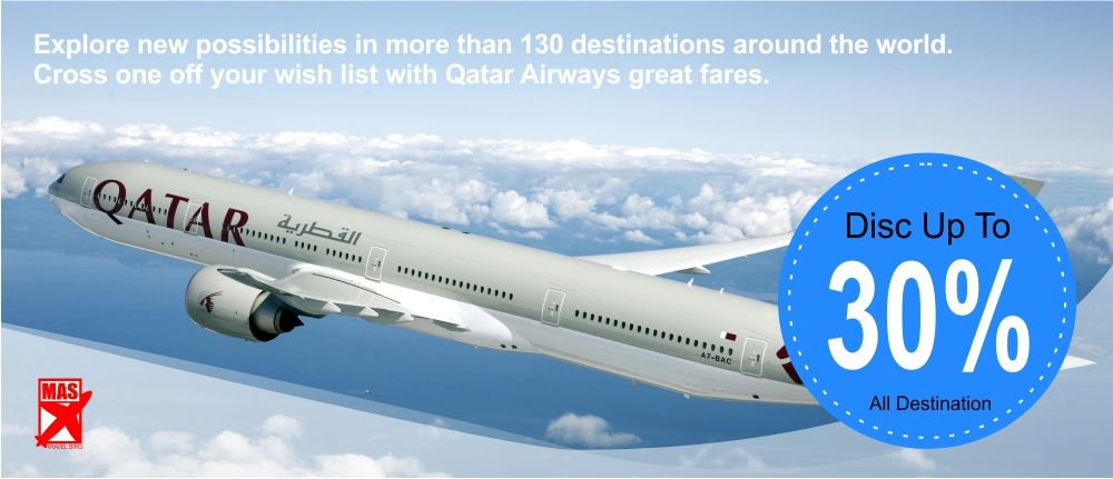 Qatar Airways Promo Fare Booking Now Date Of Issued Immediately 15 Jan 15 Date Of Traveling 20 Jan 10 Dec 15 Hav Perjalanan Udara Penerbangan Bahrain