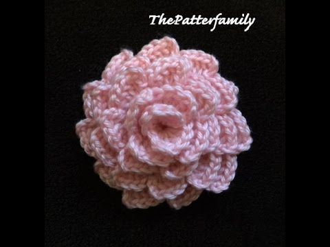 How to Crochet a Flower Pattern #64 │by ThePatterfamily - YouTube ...