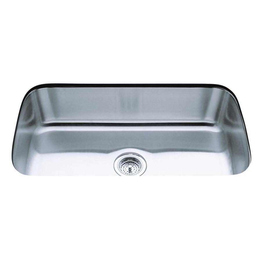 Kohler Undertone 17 75 In X 31 5 In Single Basin Stainless Steel Undermount Residential Kitchen Sink Lowes Com Single Bowl Kitchen Sink Sink Kohler Kohler undermount kitchen sink