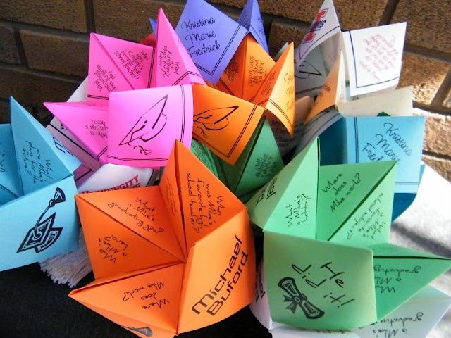 cootie catcher ideas for graduation graduation cootie catcher