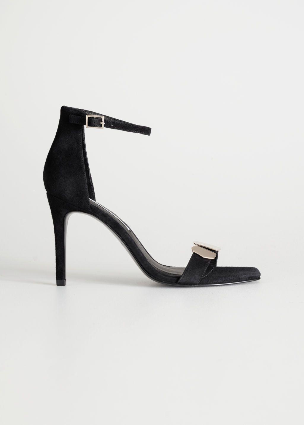 56d5cbd7920 Suede Square Toe Heeled Sandals