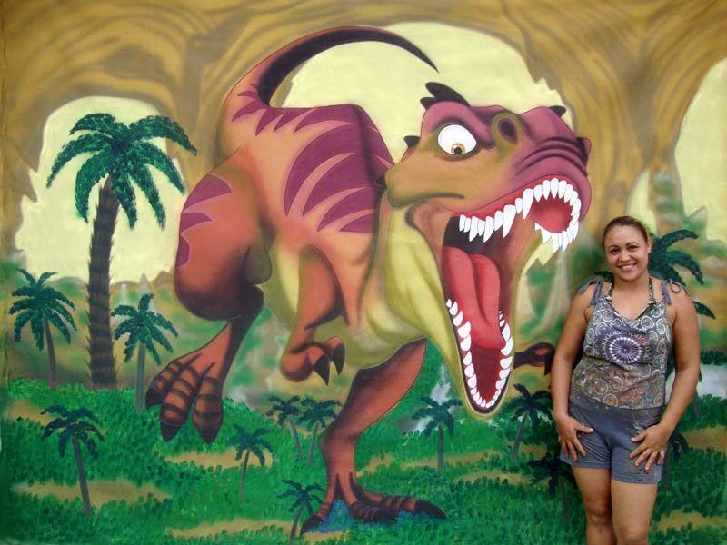 1058 Painel De Festa A Era Do Gelo 3 Dinossauro Com Imagens