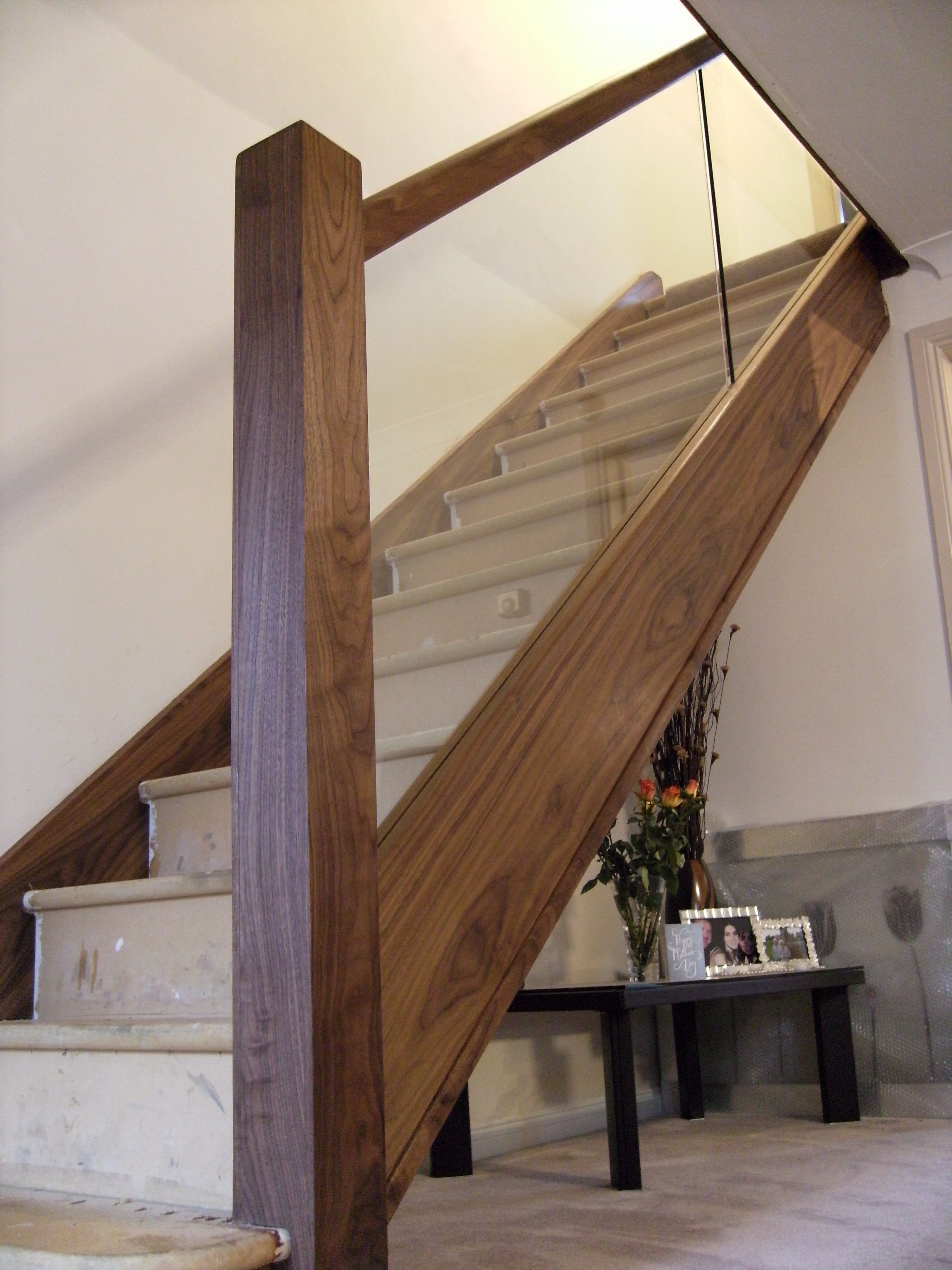 Glass Oak N E Stairs Ltd Staircase Glass Design Glass | Wood And Stairs Ltd | Steel | Stair Railing | Baluster | Spindles | K Len