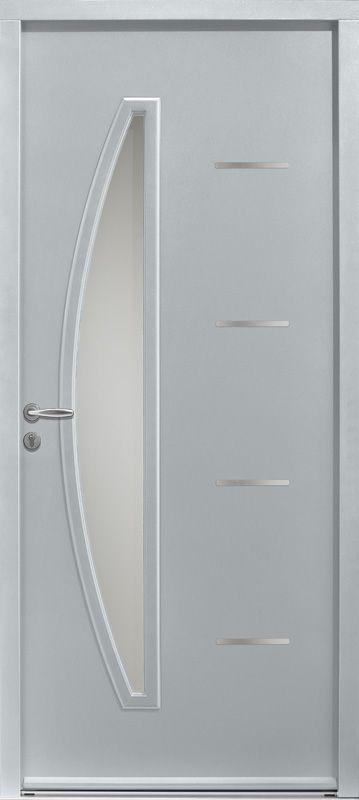 Porte d\u0027entrée acier CEDOUSA - Porte acier design ZILTEN Portes - pose de porte interieur