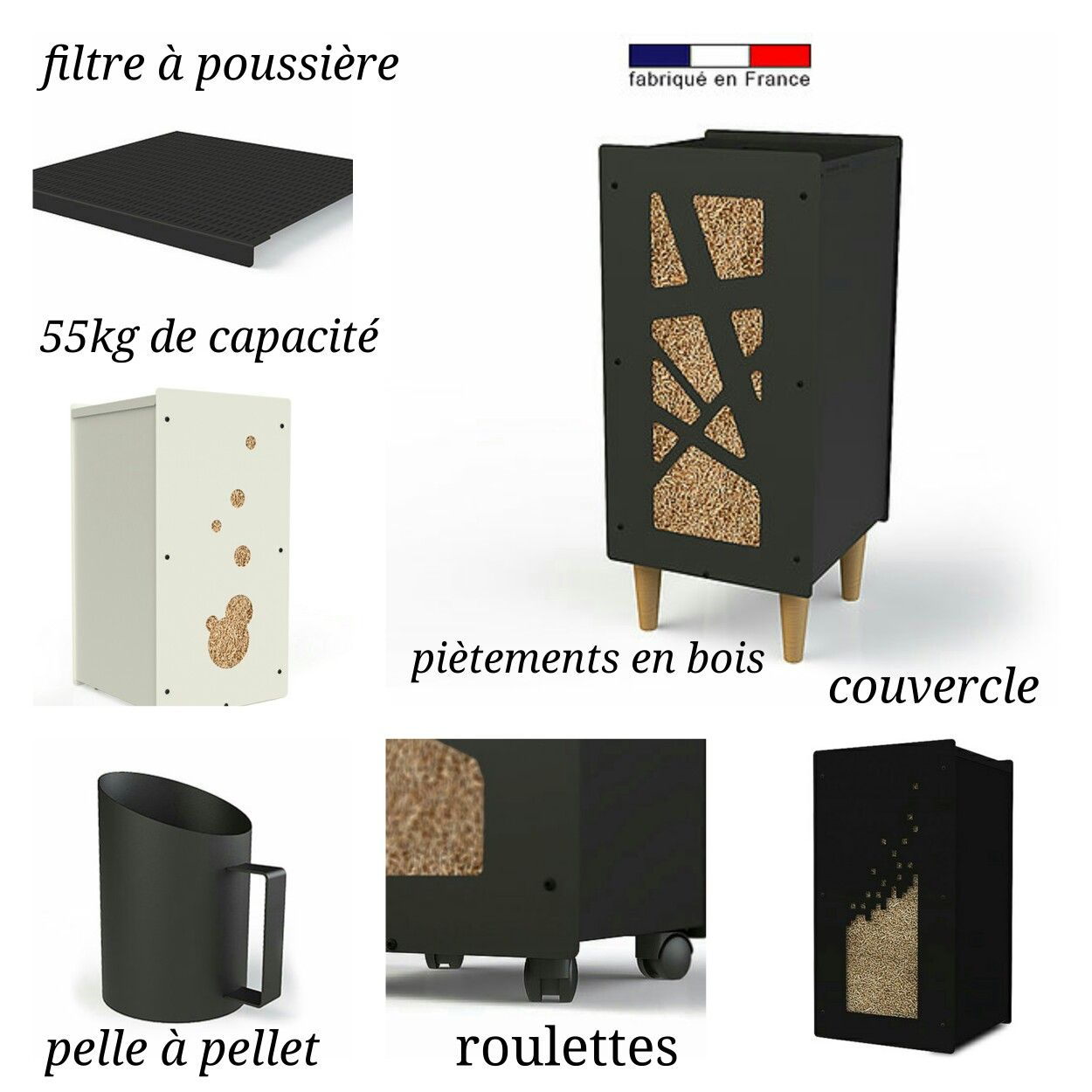 La Gamme Granulebox Accessoire De Stockage Pour Poele A Bois Et Granule Poele A Bois Meuble Rangement Idee Deco Maison