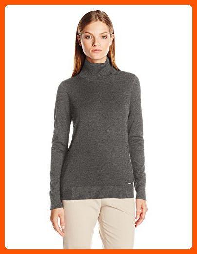 fcb242759ea Calvin Klein Women s Long Sleeve Pullover Turtleneck