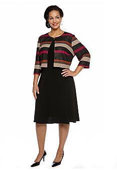 Danny & Nicole Plus Size Jacket Dress - Belk.com   Plus Size ...