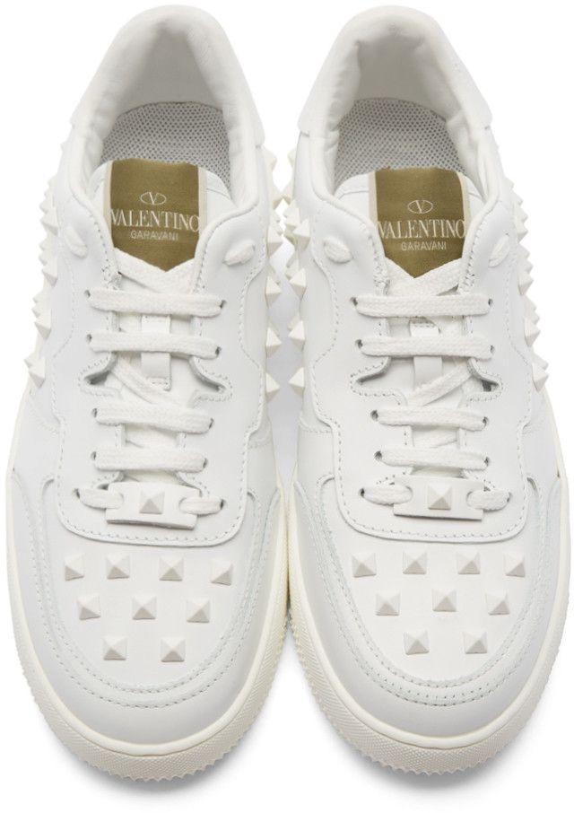 Valentino White Rockstud Sneakers | 신발