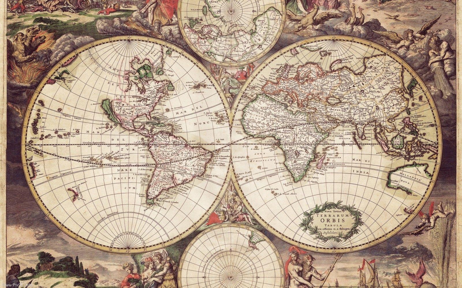 Mapamundi   mapas   Pinterest   Mapamundi, Mapas y Mapas antiguos